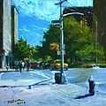 Summer Sun on Upper Broadway Print by Peter Salwen