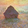 Sun in the Mist Poster by Claude Monet
