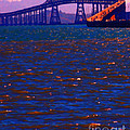 Sun Setting Beyond The Richmond-San Rafael Bridge - California - 5D18435 Poster by Wingsdomain Art and Photography