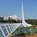 Sundial Bridge - Sit and watch how time passes by Poster by Christine Till