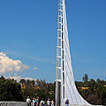 Sundial bridge - This bridge is a glass-and-steel sculpture Poster by Christine Till