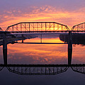 Sunrise Walnut Street Bridge 2 Poster by Tom and Pat Cory
