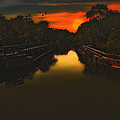 SUNSET AT THE OLD CANAL Poster by Tom York Images