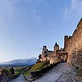 Sunset in Carcassonne Poster by Robert Lacy