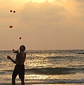 Sunset Juggling Print by Stav Stavit Zagron