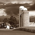 Sunset On The Farm S Poster by David Dehner