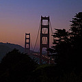 Sunset on the Golden Gate Print by Tim Mulina