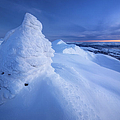 Sunset On The Summit Toviktinden Print by Arild Heitmann