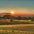 Sunset Over Countryside Print by Verity E. Milligan
