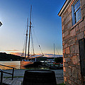 Sunset Reflections - Mystic Seaport Poster by Thomas Schoeller