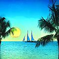 Sunset Sailor Print by Bill Cannon