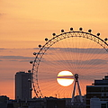 Sunset Viewed Through The London Eye Poster by Photograph by Lars Plougmann