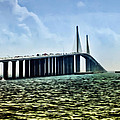 Sunshine Skyway Bridge - Tampa Bay Poster by Bill Cannon