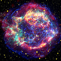 Supernova Remnant Cassiopeia A Print by Stocktrek Images