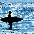 Surfer Silhouette Poster by Carlos Caetano