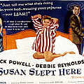 Susan Slept Here, Anne Francis, Debbie Poster by Everett