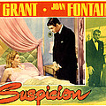 Suspicion, Joan Fontaine, Cary Grant Print by Everett