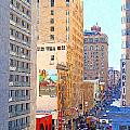 Sutter Street San Francisco Poster by Wingsdomain Art and Photography