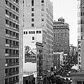 Sutter Street West View . Black and White Photograph 7D7506 Poster by Wingsdomain Art and Photography
