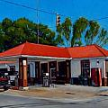 T. R. Lee Service Station Print by Doug Strickland
