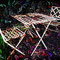 Table and Chairs Poster by Joan  Minchak