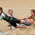 Tag Beach Rugby Competition Poster by David  Hollingworth