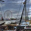 Tall Ships at Navy Pier Poster by David Bearden