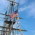 Tall Ships Banners Print by David Bearden