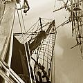 Tall Ships Reflected Print by Robert Lacy