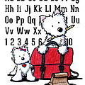 Teacher's Pet Westies Print by Kim Niles