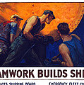 Teamwork Builds Ships Print by War Is Hell Store