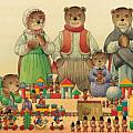 Teddybears and Bears Christmas Poster by Kestutis Kasparavicius