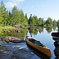 Temperance River Portage Print by Larry Ricker