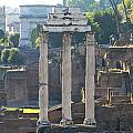 Temple of Vesta Arch of Titus. Temple of Castor and Pollux. Forum Romanum Poster by BERNARD JAUBERT