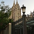 Temple Square Grounds Print by Bruce Bley