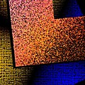 Textured Abstract Geometry Print by Mario  Perez
