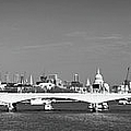 Thames panorama weather front clearing BW Poster by Gary Eason