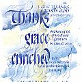 Thanks Grace   Print by Judy Dodds