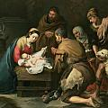 The Adoration of the Shepherds Print by Bartolome Esteban Murillo