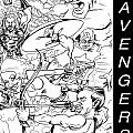The Advengers Poster by Big Mike Roate