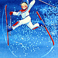 The Aerial Skier 16 Poster by Hanne Lore Koehler