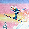 The Aerial Skier - 7 Poster by Hanne Lore Koehler