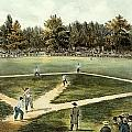 The American National Game of Baseball Grand Match at Elysian Fields Print by Currier and Ives
