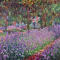 The Artists Garden at Giverny Poster by Claude Monet
