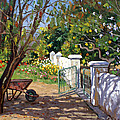 The Artist's Spring Garden Poster by Roelof Rossouw