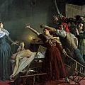 The Assassination of Marat Print by Jean Joseph Weerts