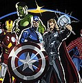The Avengers Poster by Darrell Hopkins