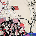 The Backless Dress Print by Georges Barbier