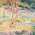 The Beach at St Clair Poster by Henri-Edmond Cross