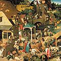 The Blue Cloak Print by Pieter the Elder Bruegel